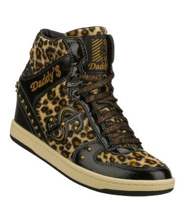 660cfb7914c4 Love this Black Leopard Moolah Purrrr Sneaker by Daddy s Money by Skechers  on  zulily!  zulilyfinds
