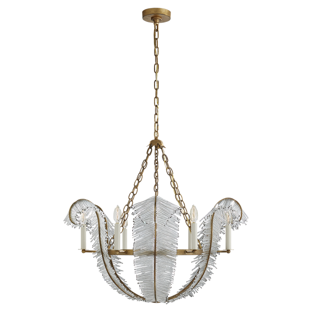 Calais 34 chandelier by niermann weeks in gilded iron