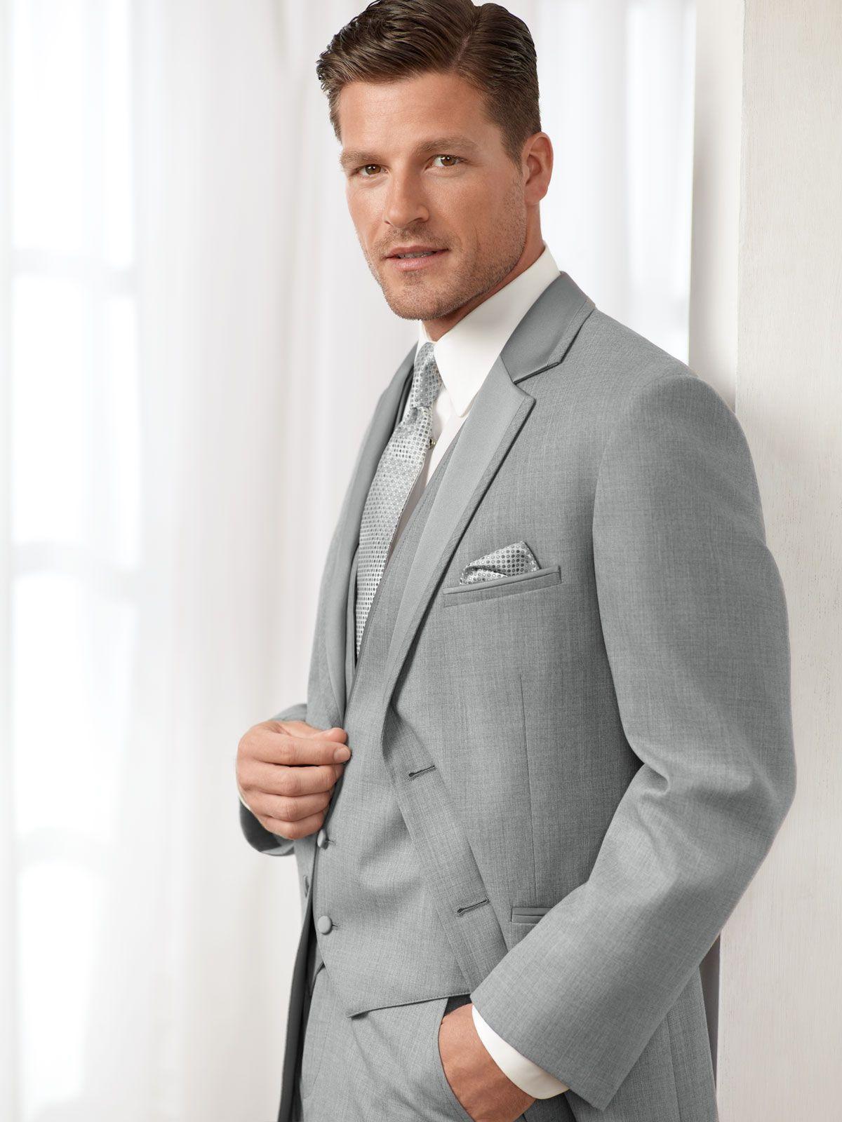 Jean Yves Light Grey Premeire - Style #505 Black Tie Formalwear