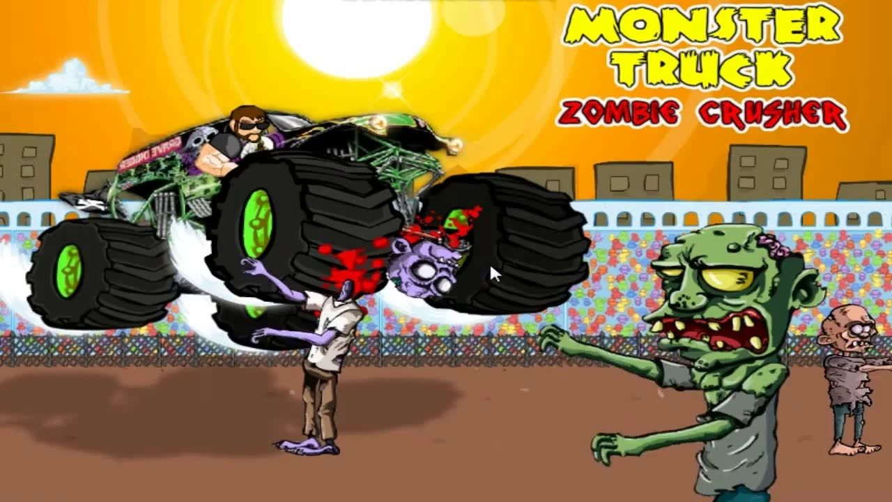 Monster Truck Zombie Crusher Official Kids Games Free