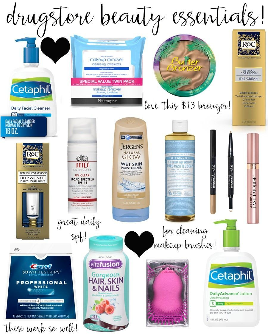 drugstore beauty essentials! in 2020 Beauty products