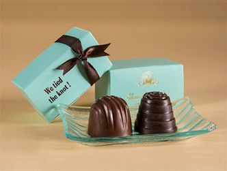 Enstrom Wedding Favors Truffles in personalized boxes Offered