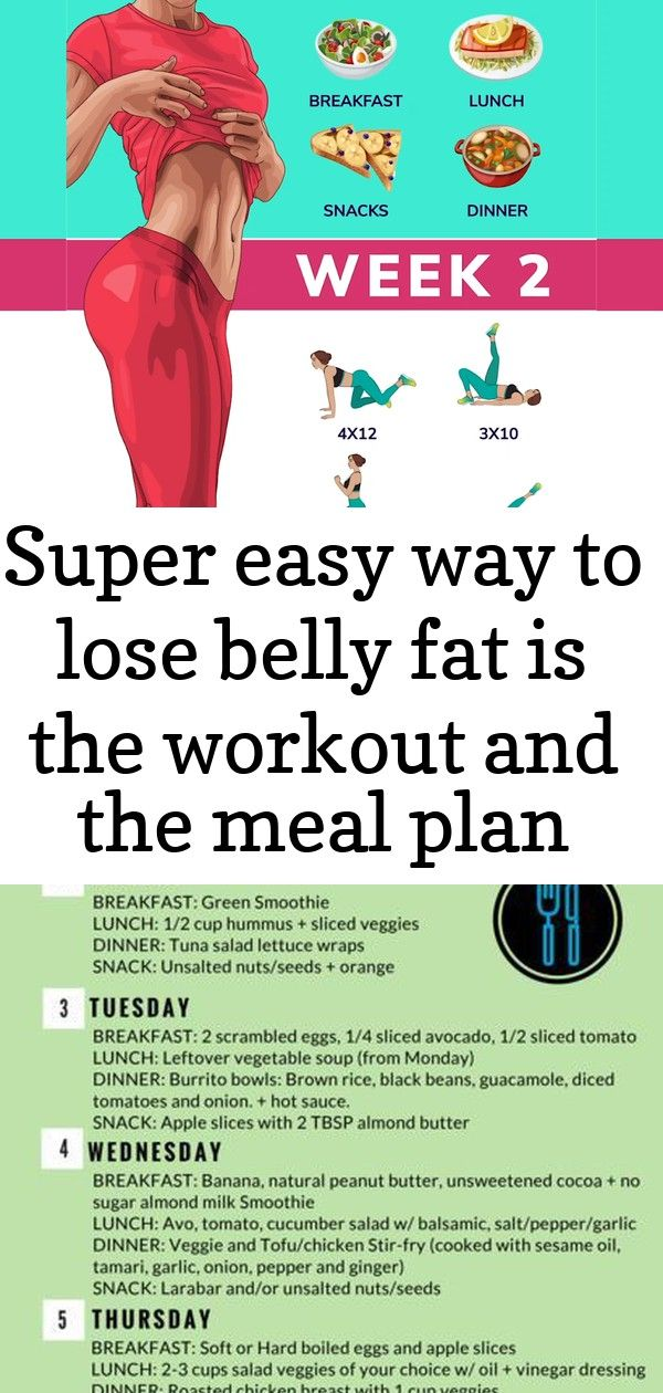 Super easy way to lose belly fat is the workout and the meal plan below!!! effective exercises and m #cleaneatingresults