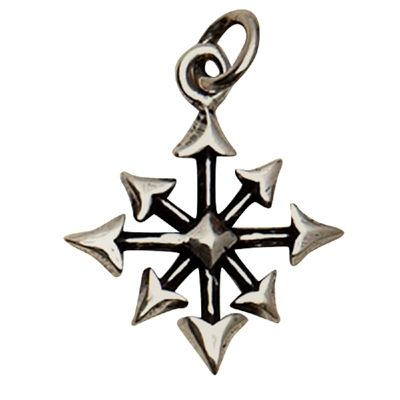 Sterling Silver Chaos Symbol Pendant The Symbol Of Chaos Originates