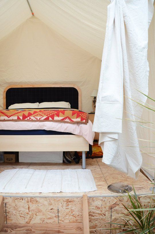 Creative DIY Room Dividing Idea: The Tent Bedroom