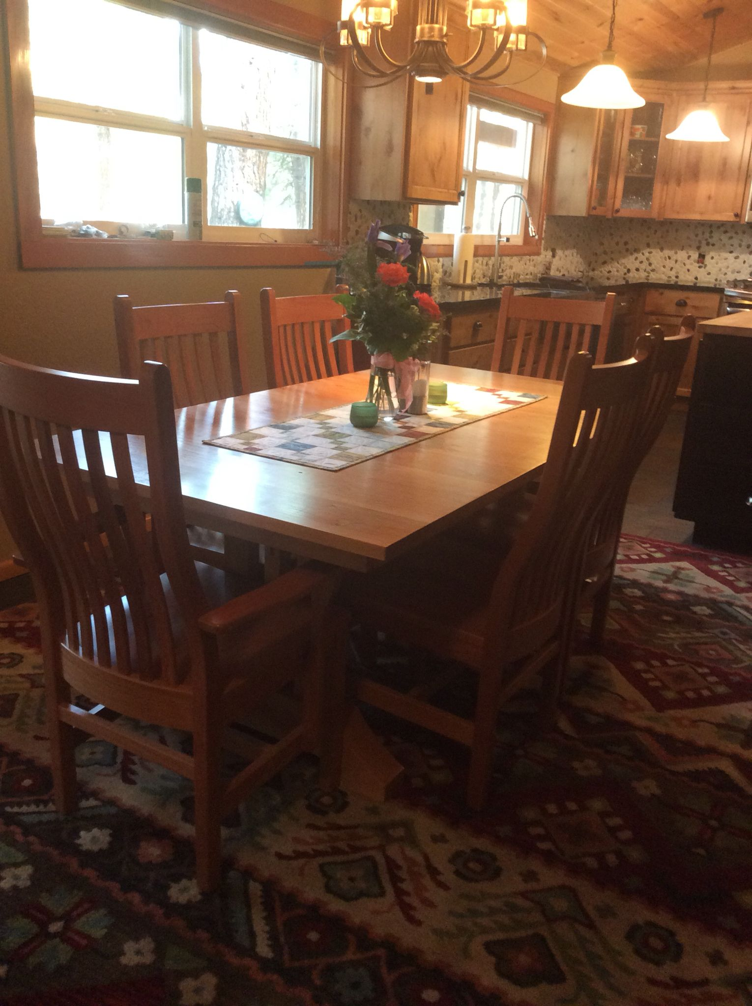 Dining room table that my husband built mission style made out of