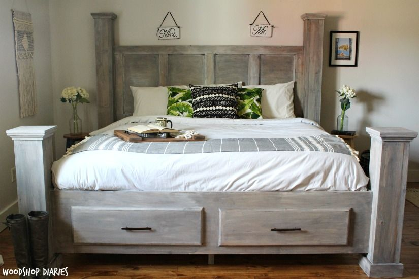 This Gorgeous King Bed Not Only Boasts Big Style With Large Posts