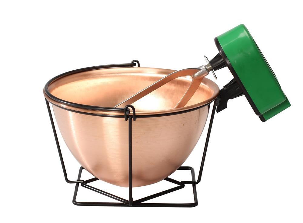 Chaudron en cuivre 12 litres avec mélangeur - Tom Press