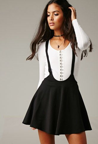 Women's Clothing Black Fit And Flare Skirt Forever 21 Size Xs Professional Design Clothing, Shoes & Accessories