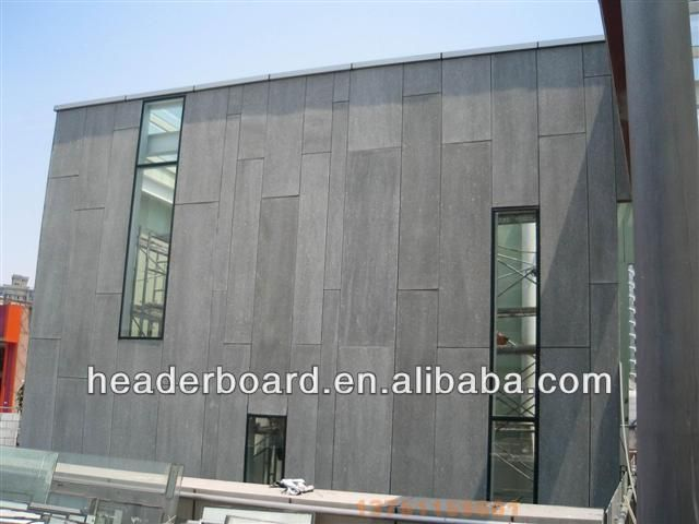 Non asbestos cement sheet exterior wall cladding fiber for Exterior wall construction materials