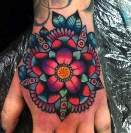 Tattoo Mandala Flower Color Colour 31 Ideas #tattoo