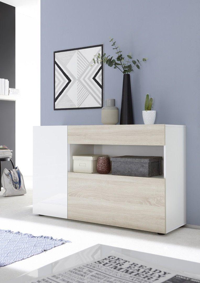 meuble de rangement design blanc laque