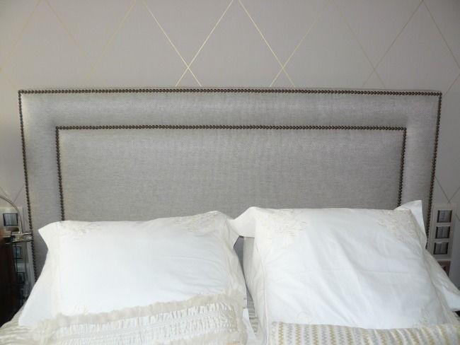 cabecero tapizado con tachas master bedroom pinterest