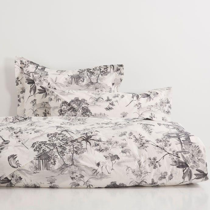 linge de lit simple imprim paysage oriental zara home. Black Bedroom Furniture Sets. Home Design Ideas