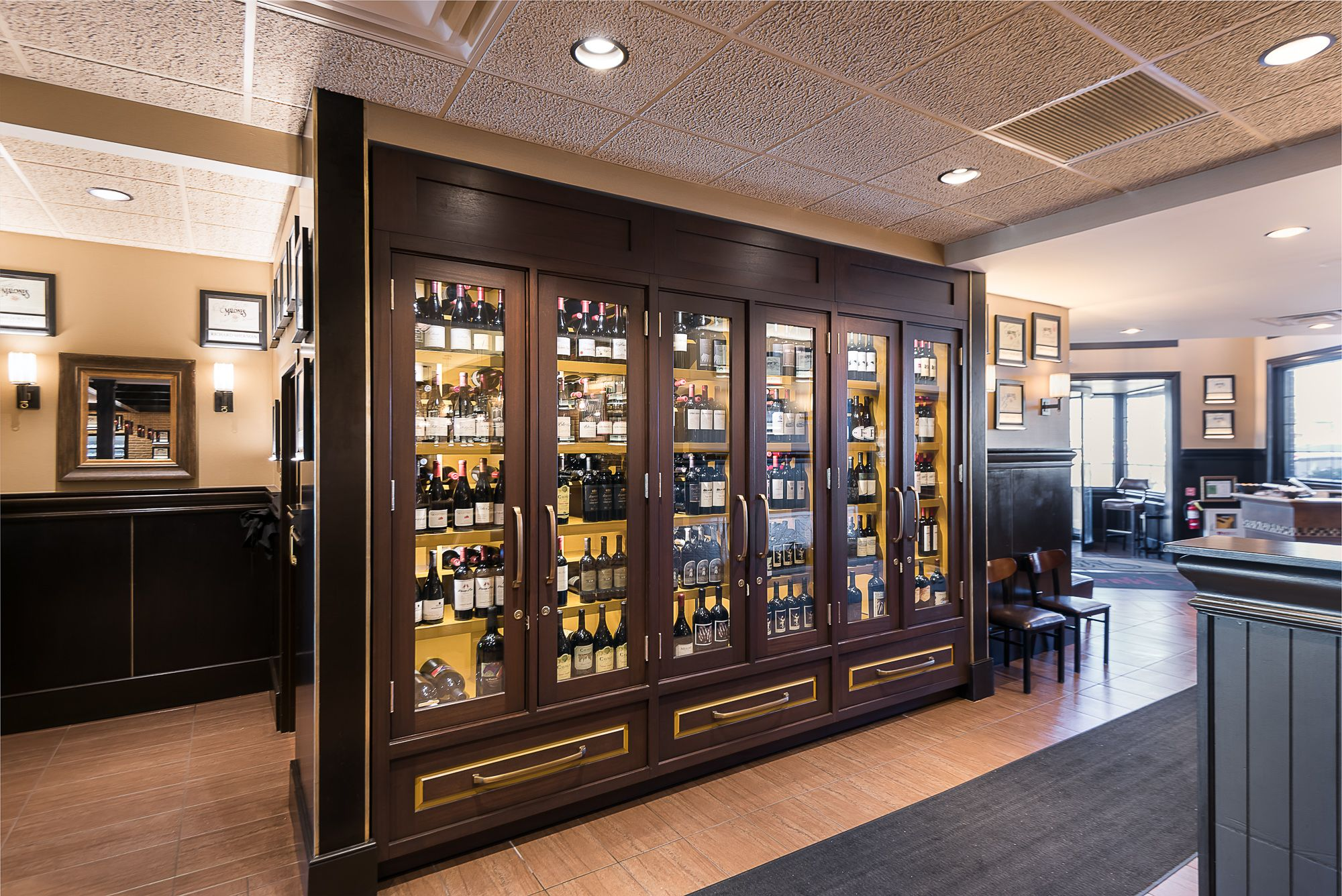 Gold Accented Wine Cabinets Click The Pin To Learn More Wine