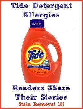 Tide Detergent Allergies Symptoms Experiences Tide Detergent