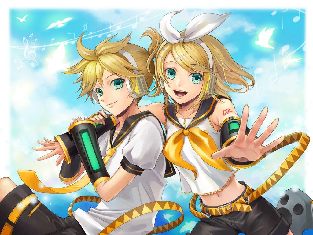 Rin And Len Kagamine Wallpaper Happy, anime, happy