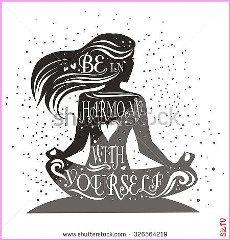 #inspirational #motivational #illustration #typographic #meditation #lettering #girllotus #yourself...