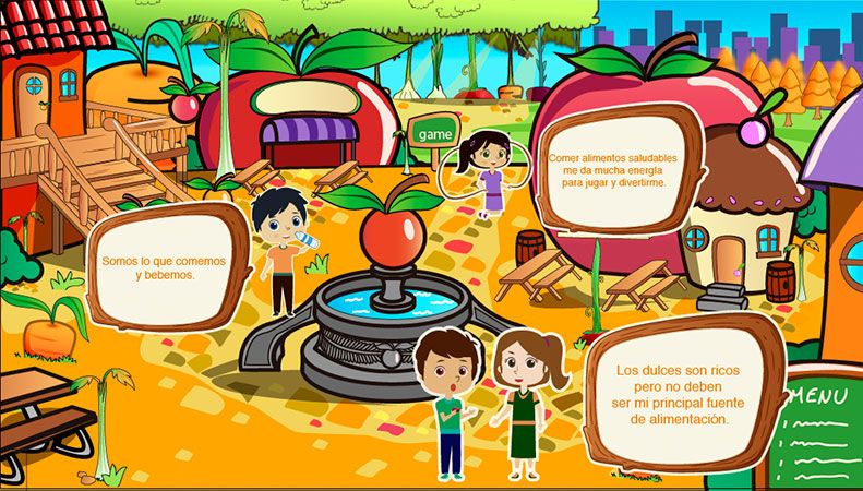Proyecto interactivo infantil para la Secretaría de Salud.  Shock Estudios.