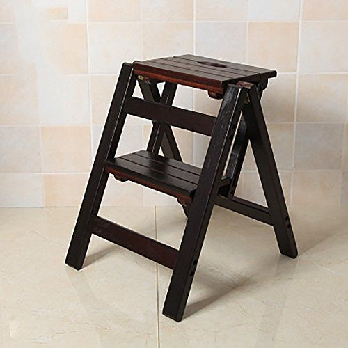 Strange Ladder Chair Folding Wooden 2 Step Stool 3 Tiers Portable Pdpeps Interior Chair Design Pdpepsorg