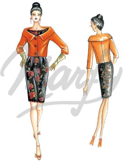 Patrón de costura Chaquetas / Chal 3027 | Vestidos de dia ...