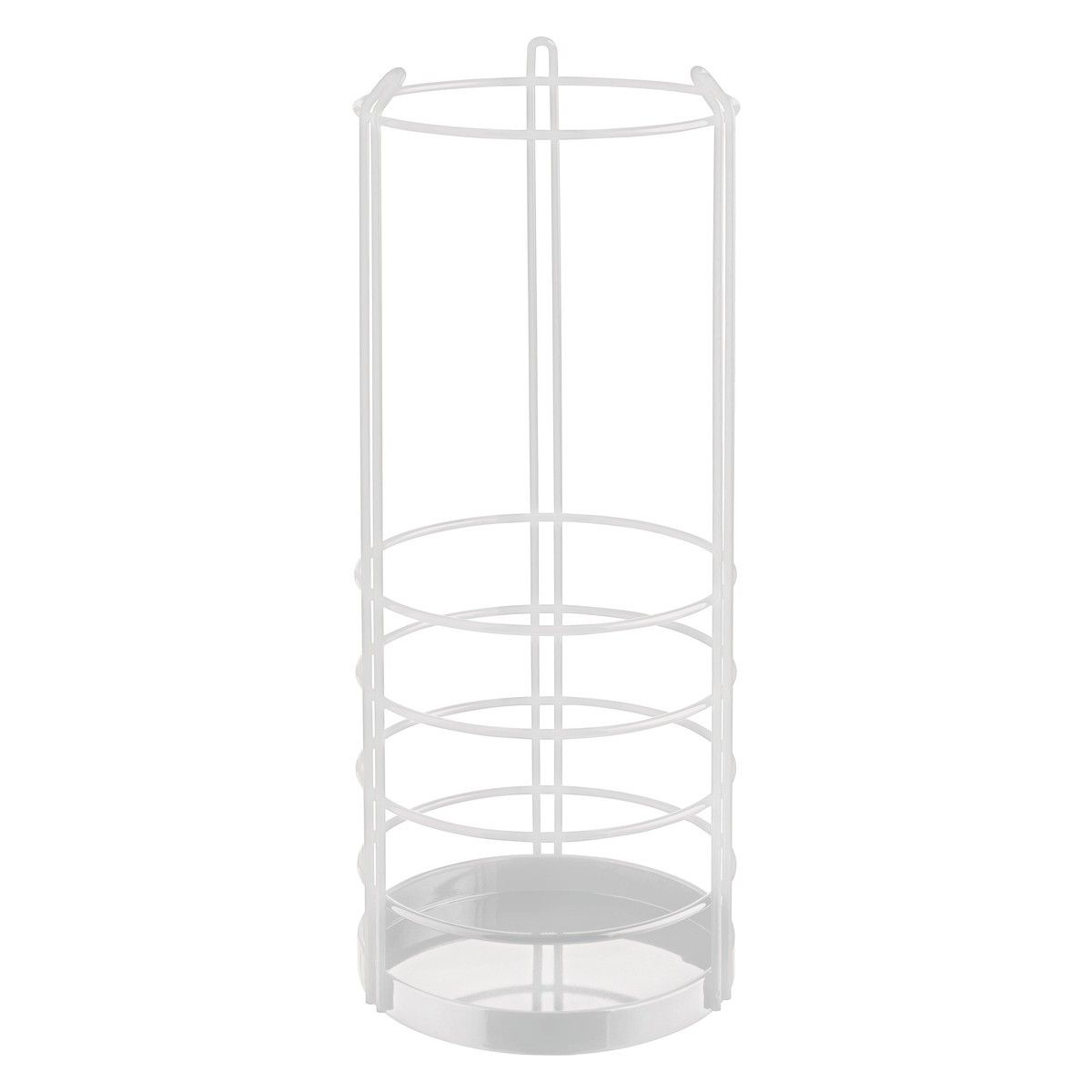 SAUNDERS White Metal Umbrella Stand