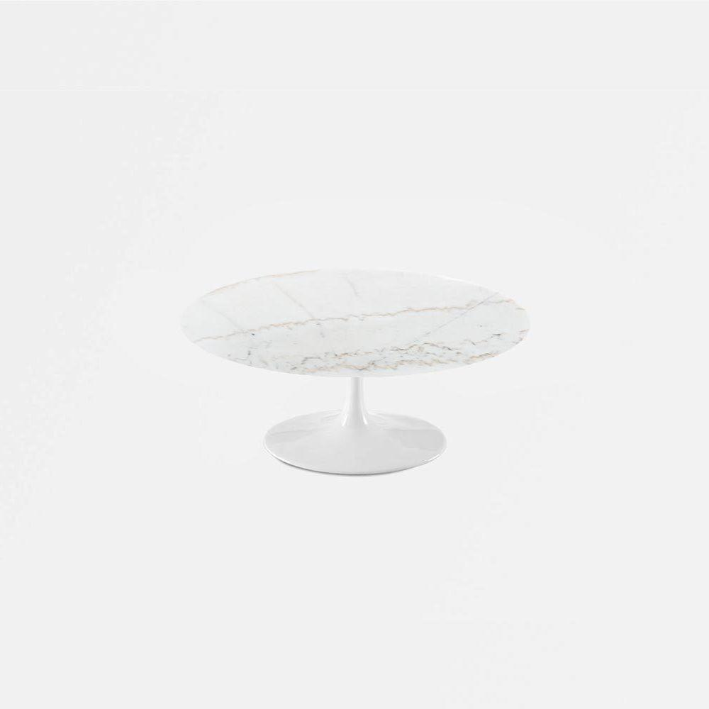 Calacatta gold marble tulip coffee table round