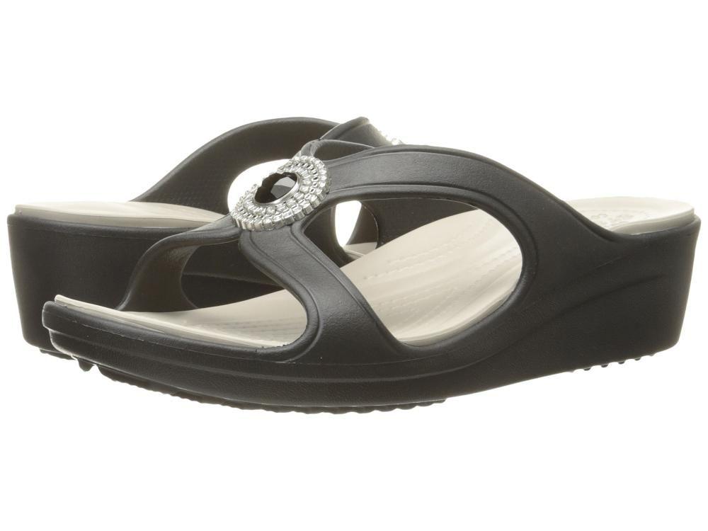 cca8ebc1828 Sanrah Beaded Wedge~crocs~Black Platinum~Women s 10 M US