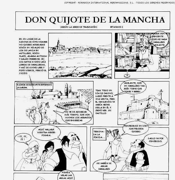 Don Quijote De La Mancha Comics Parte I Con Imagenes Quijote