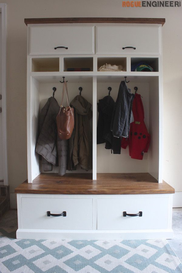 Mudroom Lockers With Bench Diy Storage Bench Mudroom