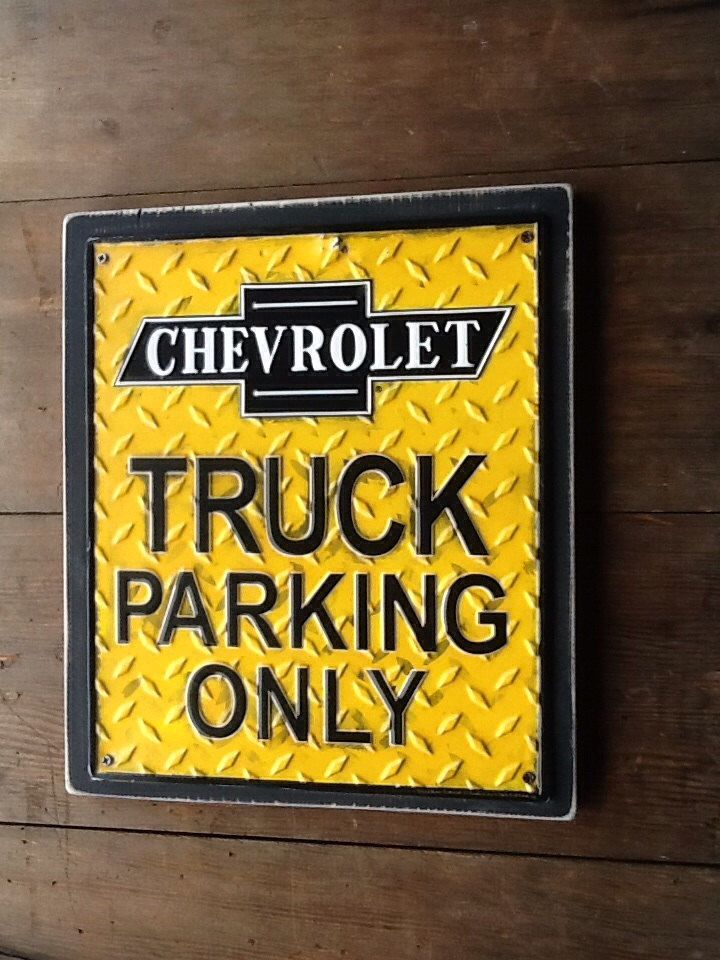 Chevy Truck Parking Only Sign Chevrolet Metal Sign Metal Sign on ...