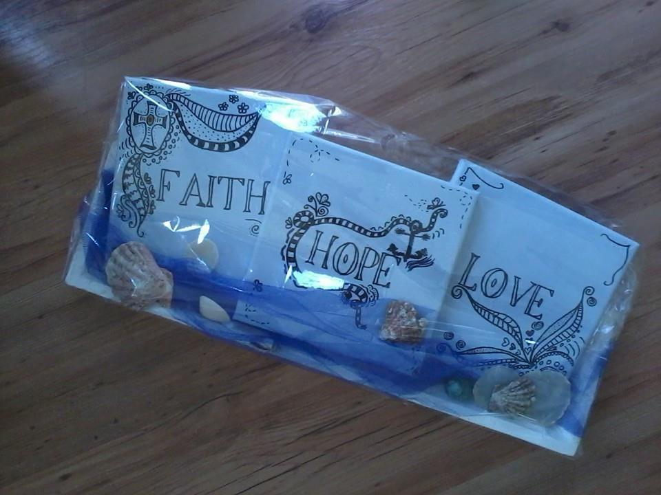 canvasserie Faith Hope Love - geloof hoop en liefde