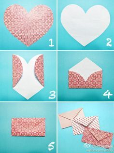 folding heart envelope template google search origami