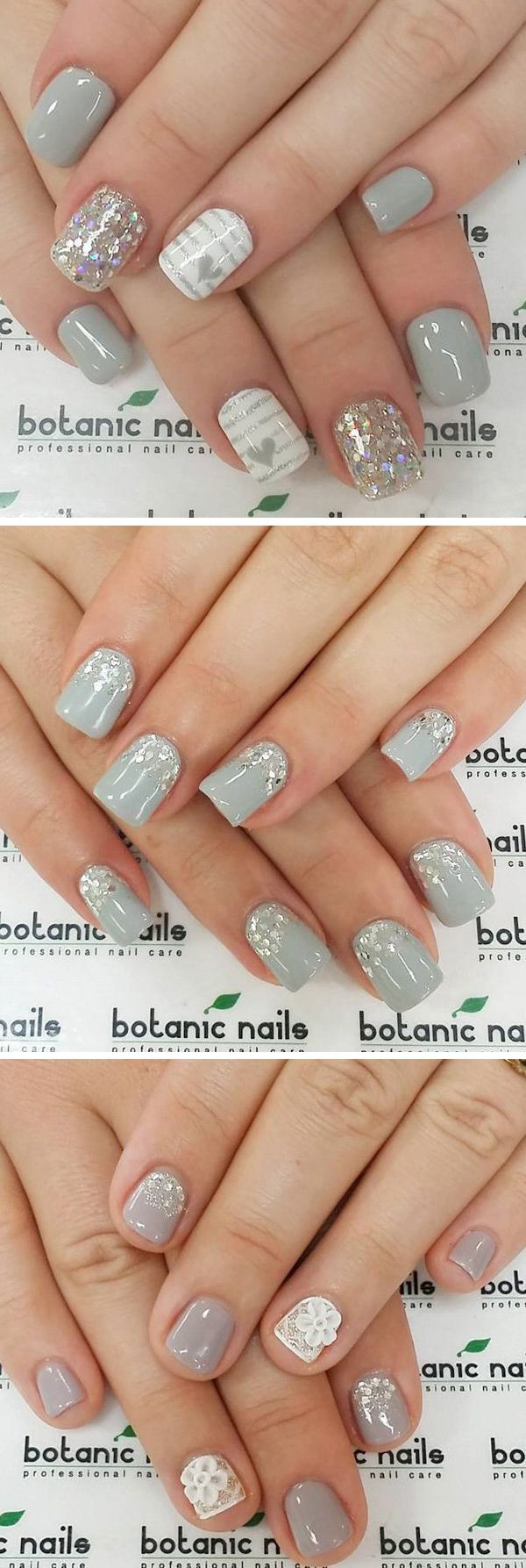35 Gray Nail Art Designs | Nageldesign, Fingernägel design und ...
