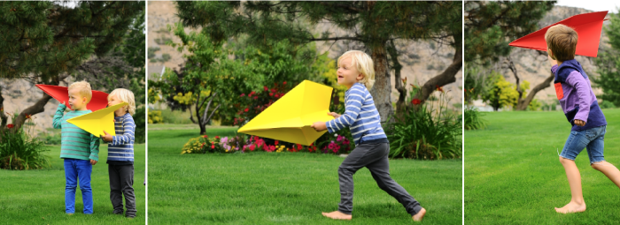 Giant Paper Airplanes | Paper airplane party, Plane crafts, Art ...