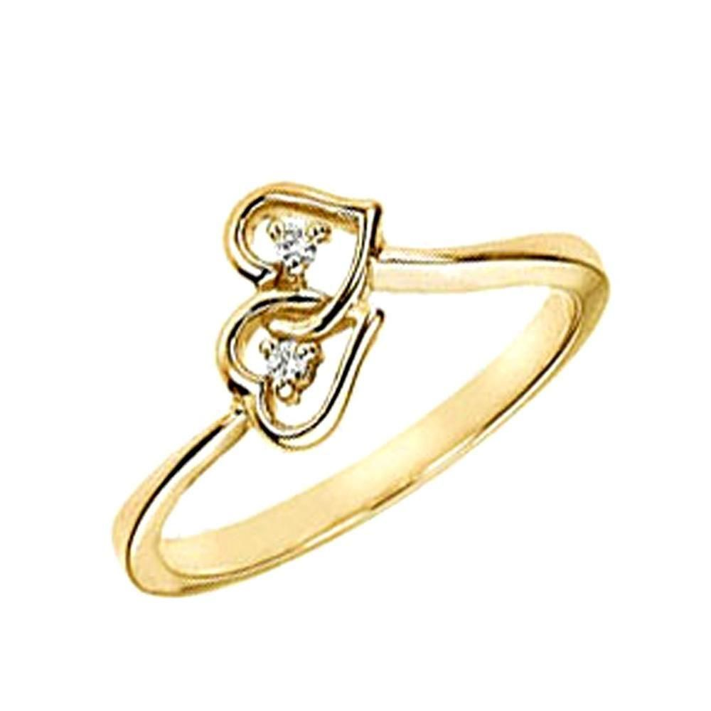 gold rings for girls picture diamond ring in yellow gold | Antique ...