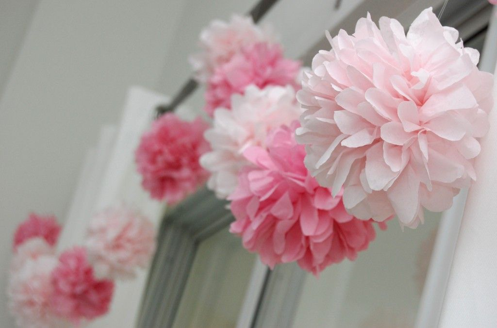 how to open paper pom pom garlands