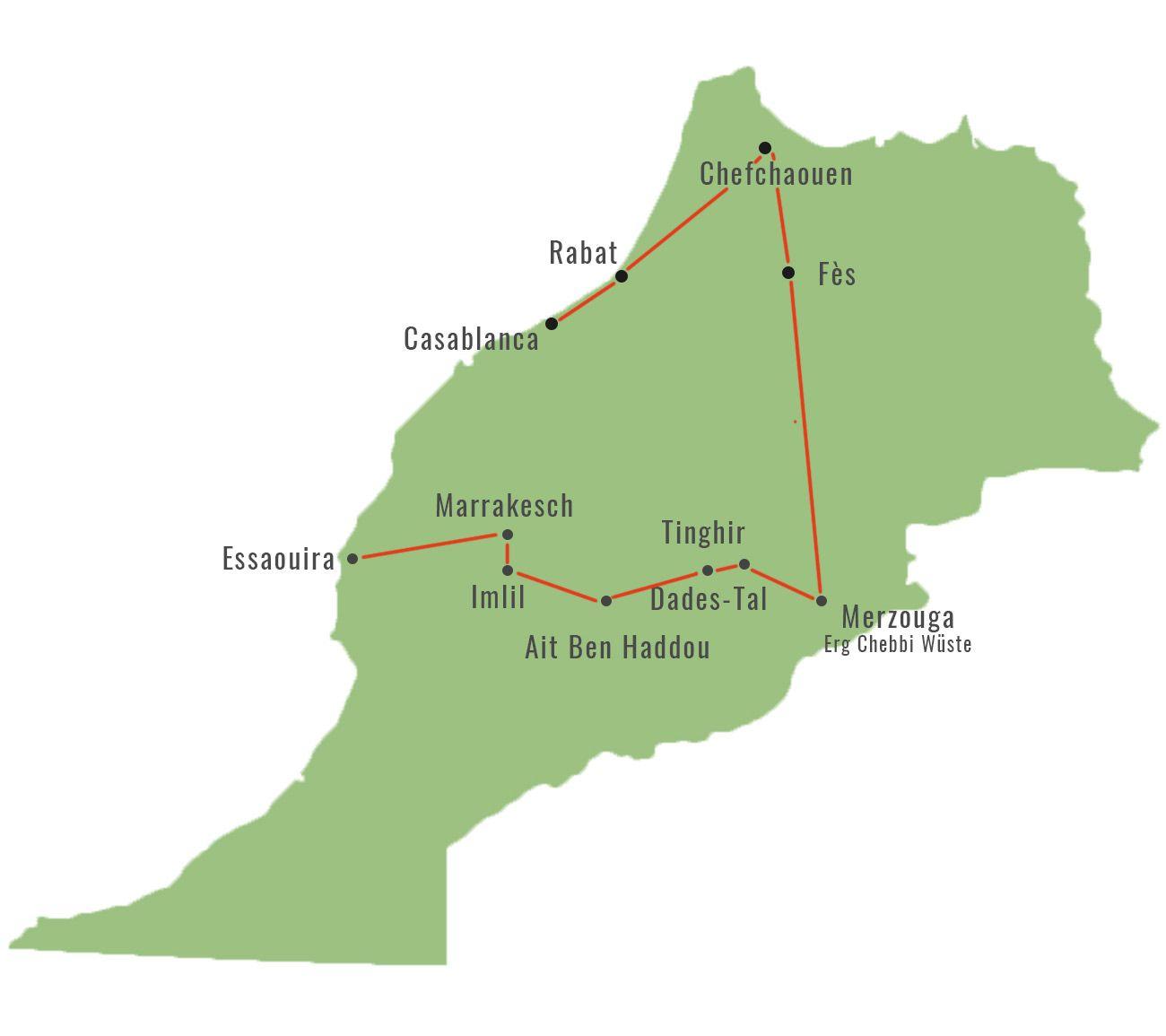 Marokko Individuell Bereisen Reiseroute Fur 2 Wochen Likeontravel In 2020 Marokko Reisen Marokko Rundreise Marokko