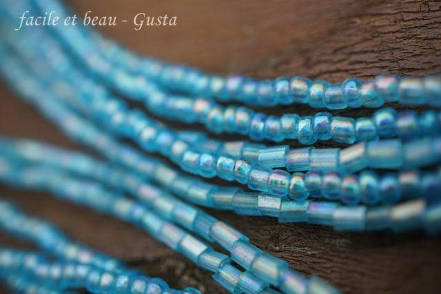 facile et beau - Gusta: blaue Perlen