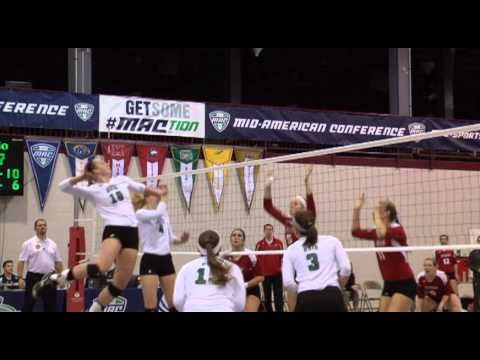 Volleyball Ohio Sweeps Niu In Mac Semi Finals Semi Final Volleyball Northern Illinois University