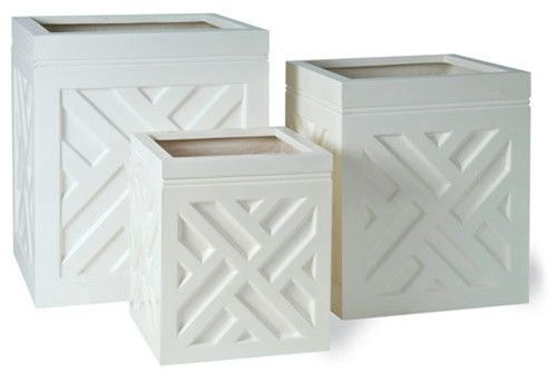 Chippendale Planters In Gloss White