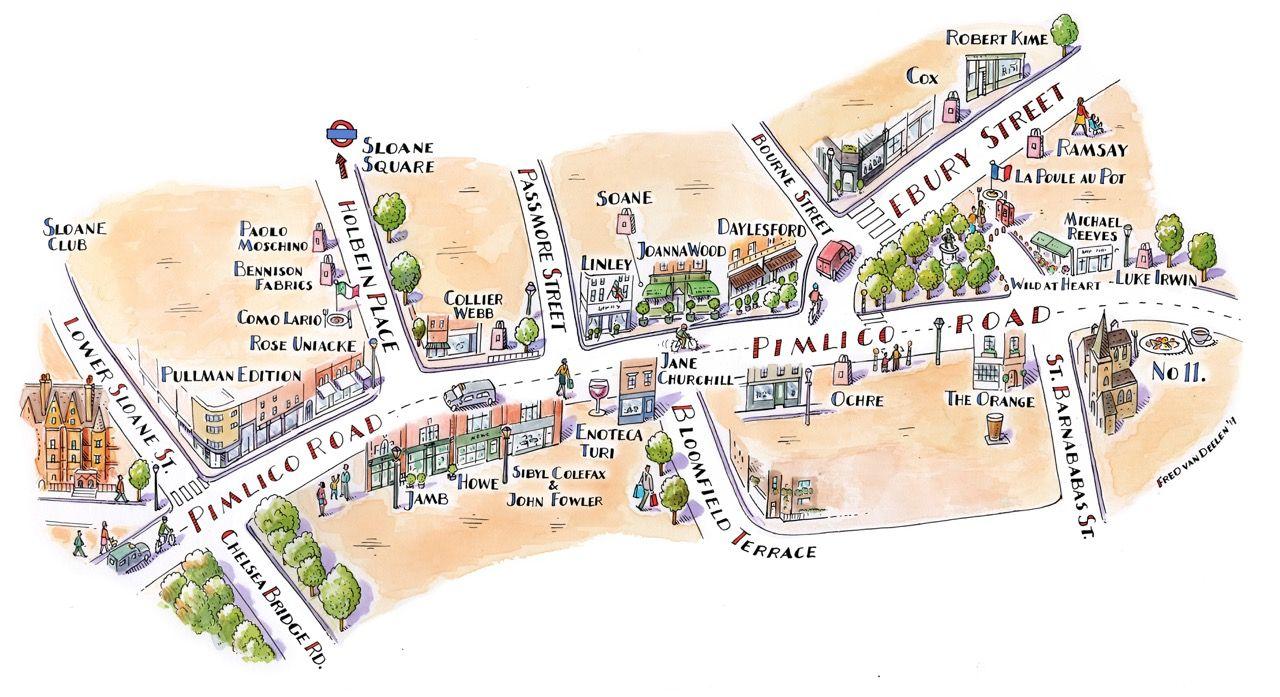 Pimlico London Map.Pimlico Map Fred Van Deelen Pimlico London Streetmap Map