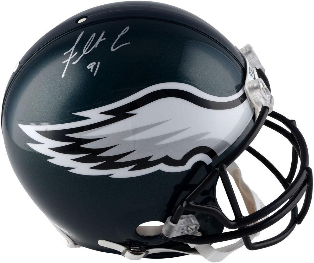 73b33a5b317 Fletcher Cox Eagles Autographed Riddell Authentic Pro-Line Helmet - Fanatics