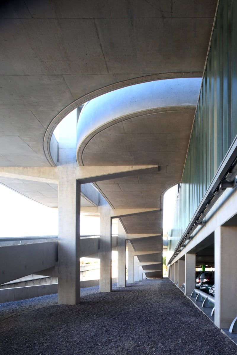 Marc Barani Architecte Muoto Architectes Serge Demailly Parking Aeroport De Nice Architecture Architecture Art Contemporary Architecture