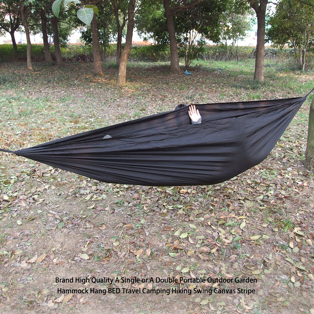 Luckstonea single or a double portable outdoor garden hammock tent