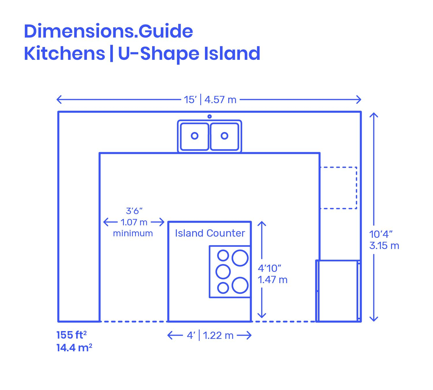 U Shape Island Kitchen Layout Kitchen Layout Plans Kitchen Island Dimensions Kitchen Floor Plans