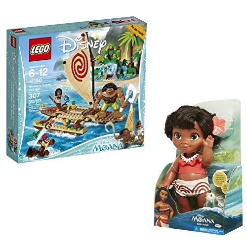 LEGO Girls Games Friends Disney Moanas Ocean Voyage AND Young Moana ...