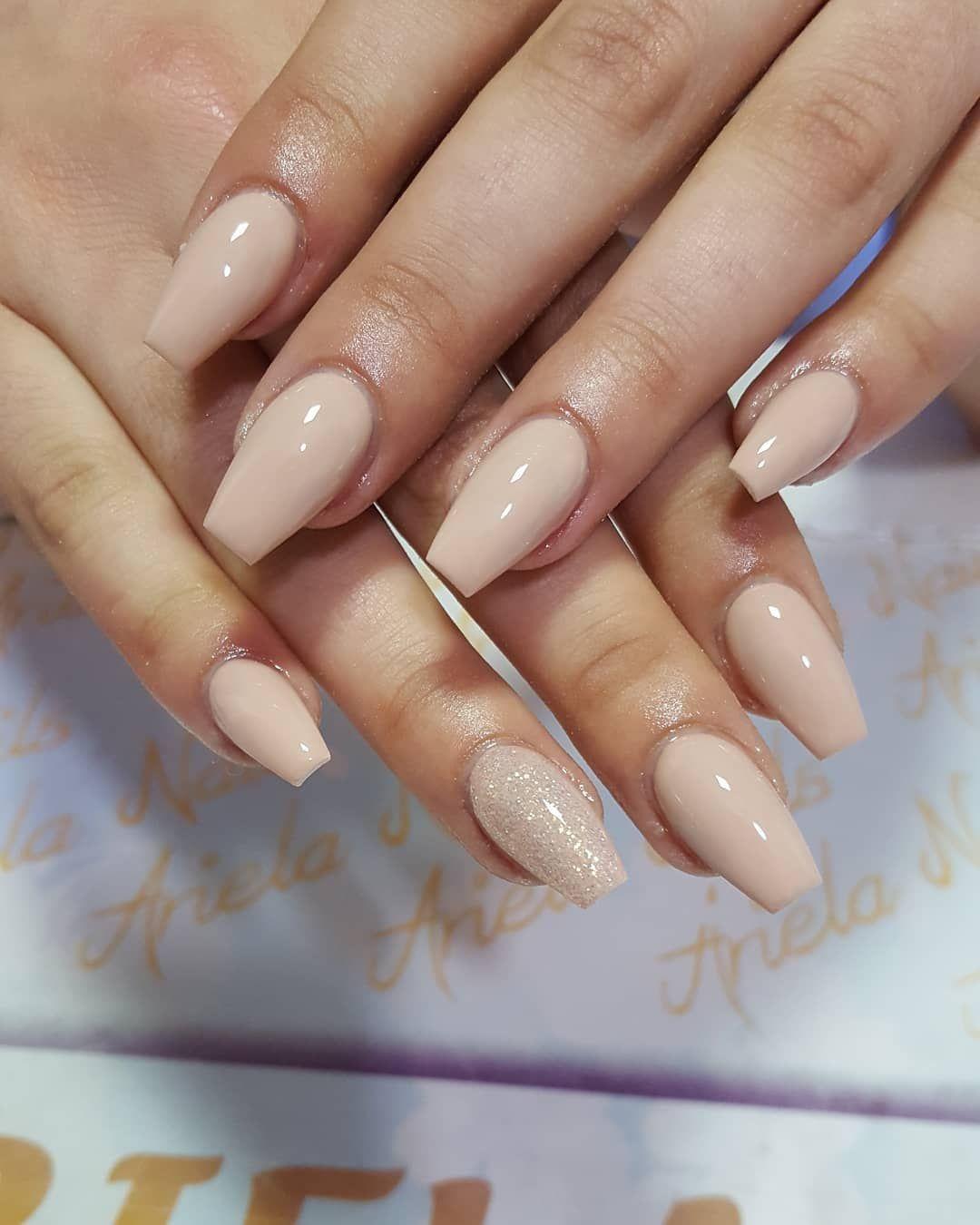 Beautiful nude nail art – Aariela nails