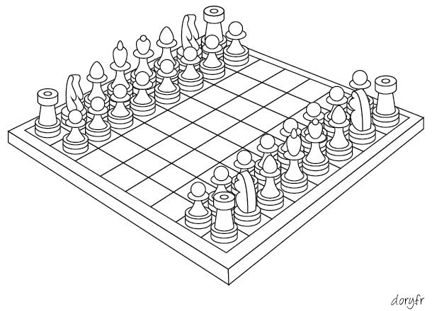 Dessin à colorier, un jeu d'échecs | Ausmalbilder, Ausmalen, Schach