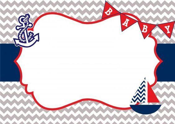 Invitaciones De Nautica Marinero Baby Showers Marinero